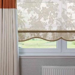 Рулонные шторы с фигурным низом