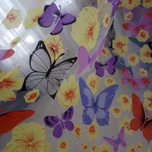 Органза бабочки сиреневые