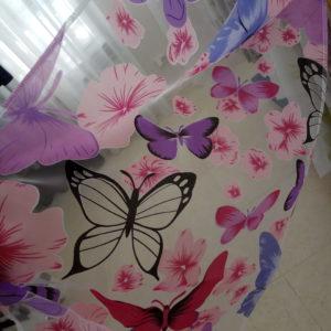 Органза бабочки розовые